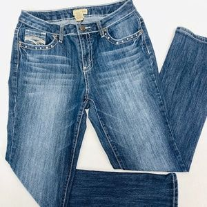 Earl Jean Womens Jeans 10 Blue Straight Med Wash